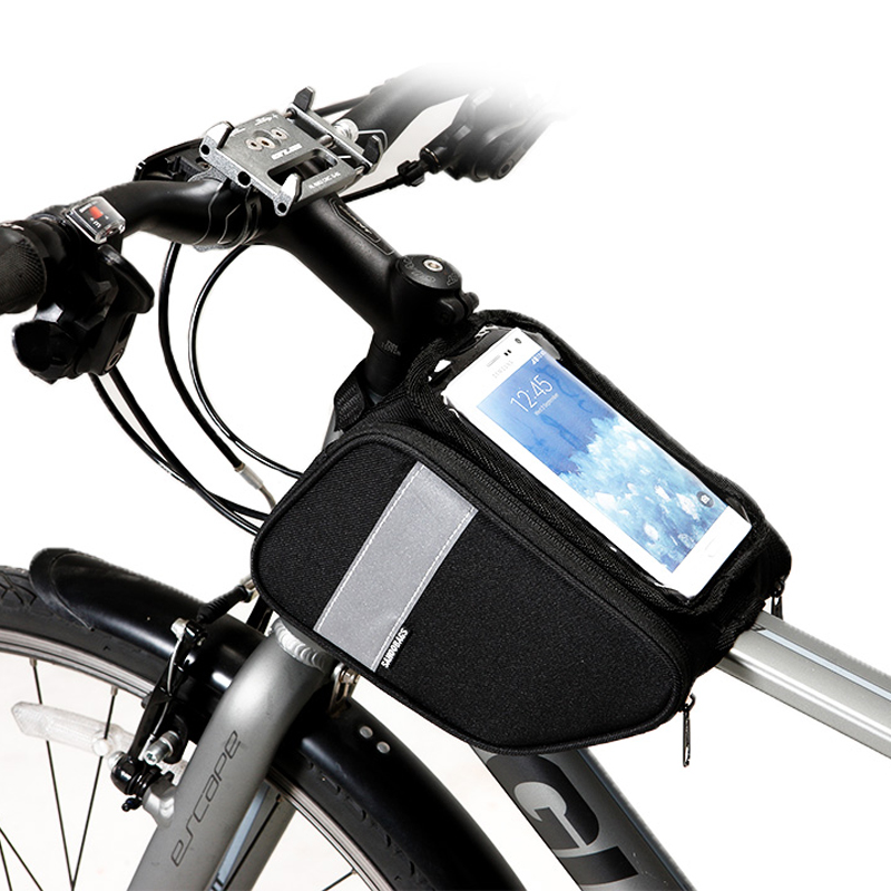 Bike Cell Mobile Phone Bag Front Frame Top Tube Cycling Pouch Bicycle Pannier