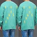 Homem mulher Amantes Streetwear Manga Longa Hip Hop Eu Sinto como Pablo Merch Carta Imprimir Sportwear T-Shirt Kanye West Moda turnê