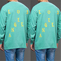 Woman Man Lovers Streetwear Long Sleeve Hip Hop I Feel Like Merch Letter Print Sportwear Pablo T-Shirt Kanye West Fashion Tour