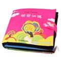 Livro atividade Bebê Dos Desenhos Animados Macio Livro de Pano Brinquedo Educativo Brinquedo Desenvolvimento da Inteligência Série de Treinamento Visual do Livro para Crianças