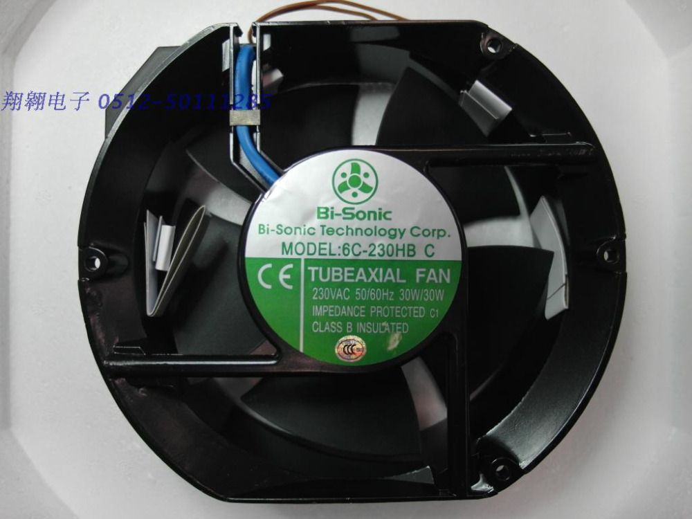 New Original Bi-sonic 6C-230HBC 17251AC220V computer running fan fan 172 * 150 * 51MM new original bi sonic fan 6c 230hb c 1751 220v capacitor run type case coolinig