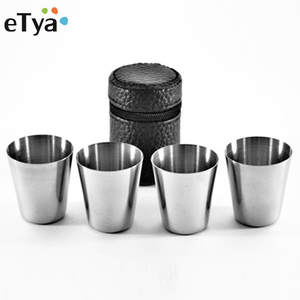 eTya 4Pcs/set Wine Cups Drinking Alcohol Bottle
