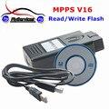 2017 Profesional MPPS K Puede Interruptor Intermitente Viruta del ECU Herramienta de Adaptación MPPS V16 Leer y Escribir el Flash de Alta Recomienda MPPS V16 Chip Tuning