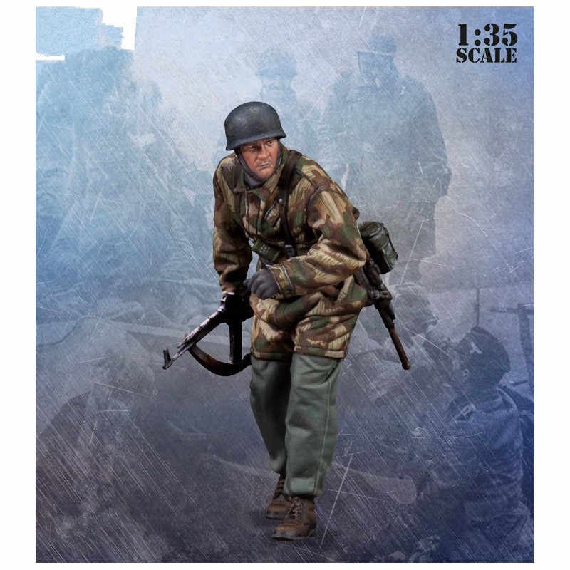 1/35 Resin Figuur Model Kit WWII duitse soldaat 1 Cijfers Unassambled Unpainted