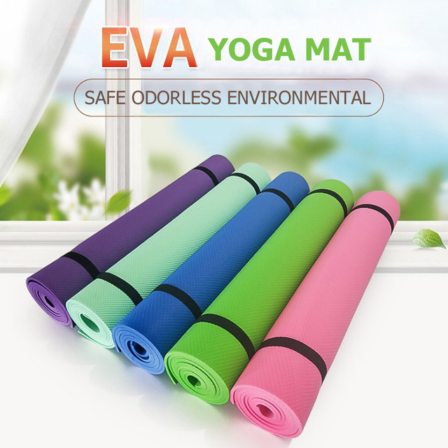 Eco friendly yoga mats 4 MM Non-slip Fitness Sports Exercise Mat Gym Pilates Pad Waterproof