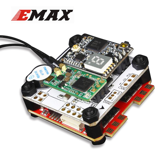 Emax F4 Magnum AIO TOWER FPV Stack Tower System F4 OSD 4 In 1 BLHeli_S 30A ESC VTX FrSky XM+ RX emax f4 magnum tower parts bullet 30a 4 in 1 blheli s esc 2 4s built in current sensor for rc multicopter models motor frame