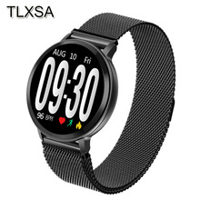 Bluetooth צבע מסך חכם שעון לחץ דם קצב לב צג חכם להקת גברים נשים ספורט כושר Tracker Smartwatch