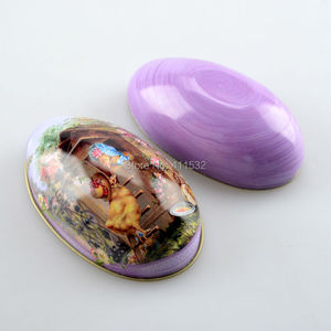 Image 5 - TPRPLH 8pc/lot Large size easter eggs tin candy storage box easter decoration NL109