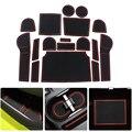 Для Subaru XV 2012 2013 2014 противоскользящие ворота для автомобиля  слот для двери автомобиля  латексный нескользящий коврик  внутренняя чашка  поду...