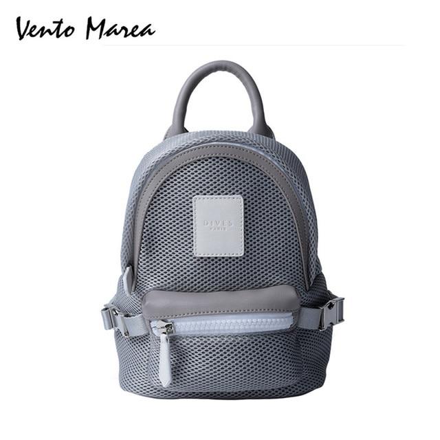Mini Backpacks For Girl New Style Women Bag 2018 Mesh Black Back Pack  Designer Ladies Shoulder Bag For Girls Mochilas Femininas a76f584d196b2