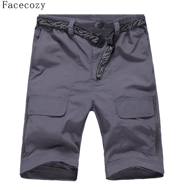 Facecozy Men Summer&Spring Quick Drying Hiking&Trekking Pants Male Removable Camping Pants & Outdoor Ultra-thin Trousers 3