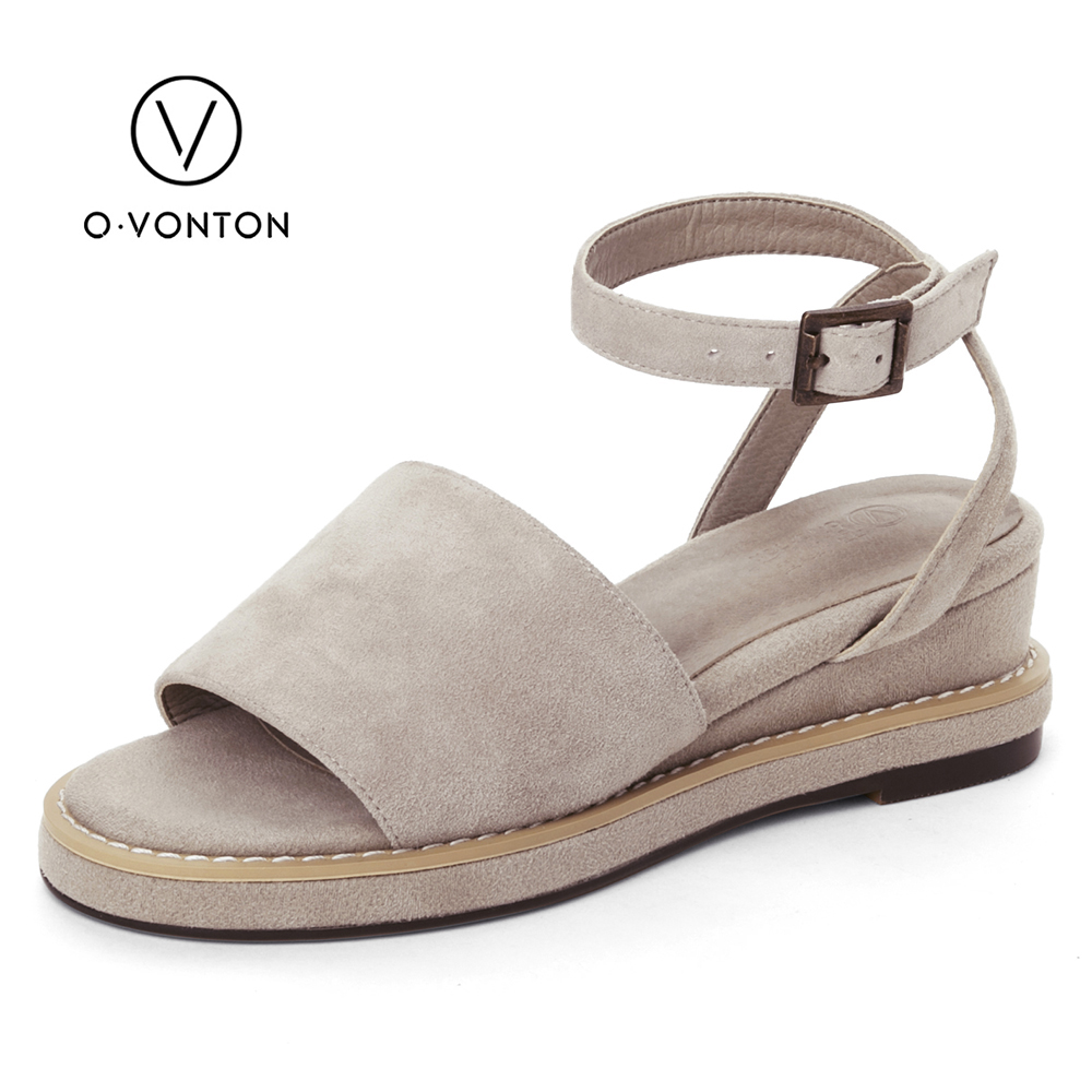 Q.VONTON women sandals 2017 New Fashion Heels Sandals Woman sandal Summer Wedges Platform high-heeled Women shoes Female 2015 summer new rome sweety shining buckle belt women sandal high heels weomen sandal breathable comfort women sandals e937