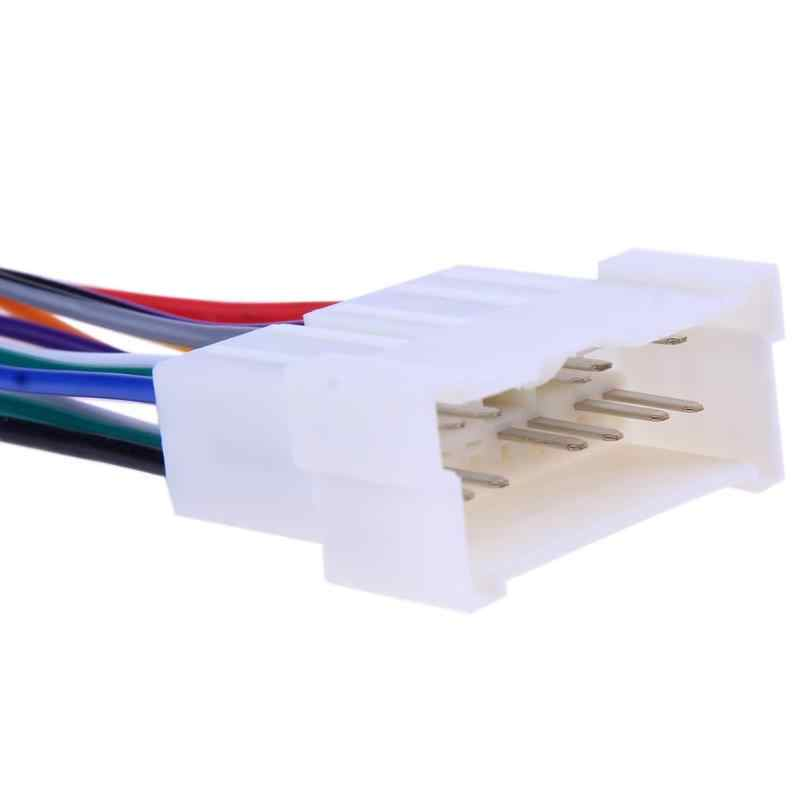 Car Stereo CD Player Wiring Harness Wire Connect Cable Socket Aftermarket on car wiring supplies, car stereo sleeve, leather dog harness, car stereo with ipod integration, car fuse, 95 sc400 stereo harness, car speaker, car stereo alternators, car stereo cover,