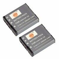 DSTE 2pcs NP 130 Rechargeable Battery For Casio EX H30 ZR100 ZR200 ZR300 ZR400 ZR410 ZR700