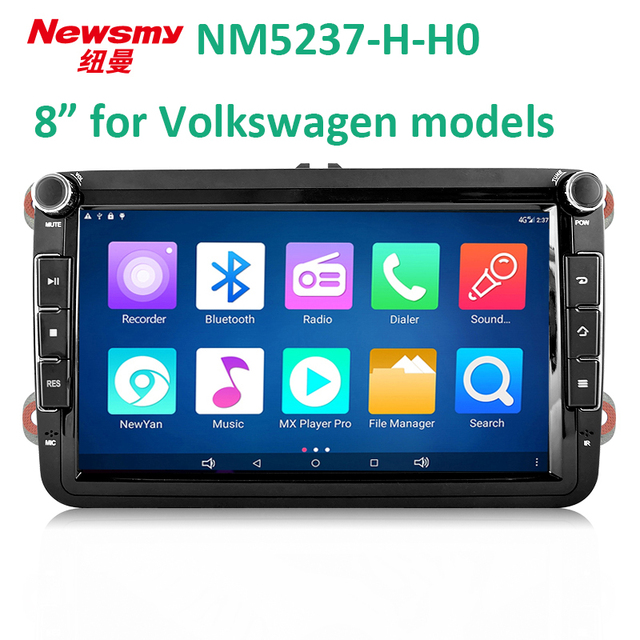 4G HD DVR bluetooth wifi 8 inch android 7.0 vw car headunit Newsmy 24 hours live broadcast