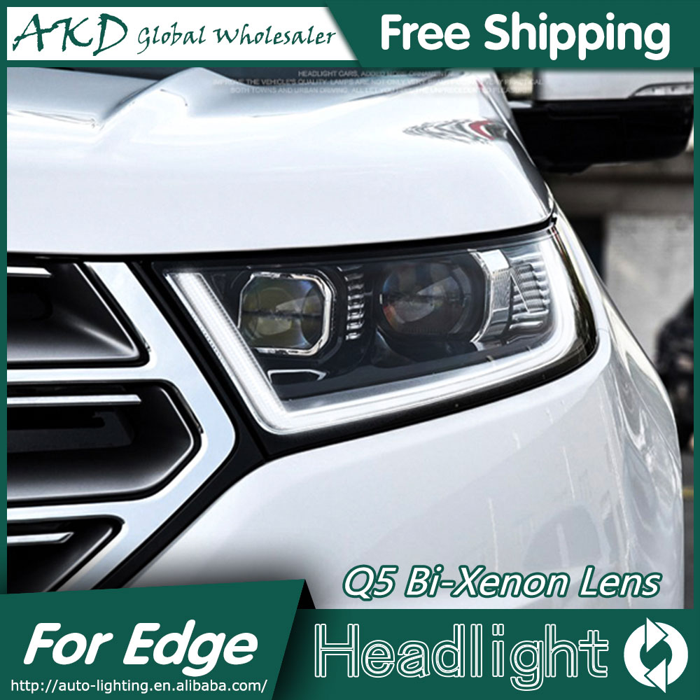 Akd Car Styling For Ford Edge Headlights   New Edge Led Headlight Led Drl Bi Xenon Lens High Low Beam Parking In Car Light Assembly From Automobiles