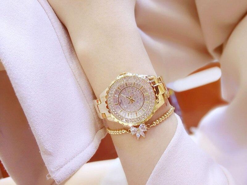 Kobiety Rhinestone Zegarki Pani Diament Stone Dress Watch Bransoletka - Zegarki damskie - Zdjęcie 6