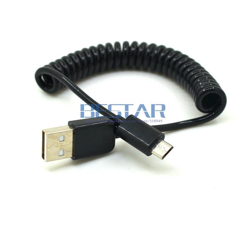 3 Mt/10ft Versenkbare 90 Grad Usb Micro Usb Kabel Lade Usb Zu Micro Usb Frühling Kabel Daten Synchronisierungs-aufladeeinheits-cord Coiled Cabo 1 Mt Datenkabel