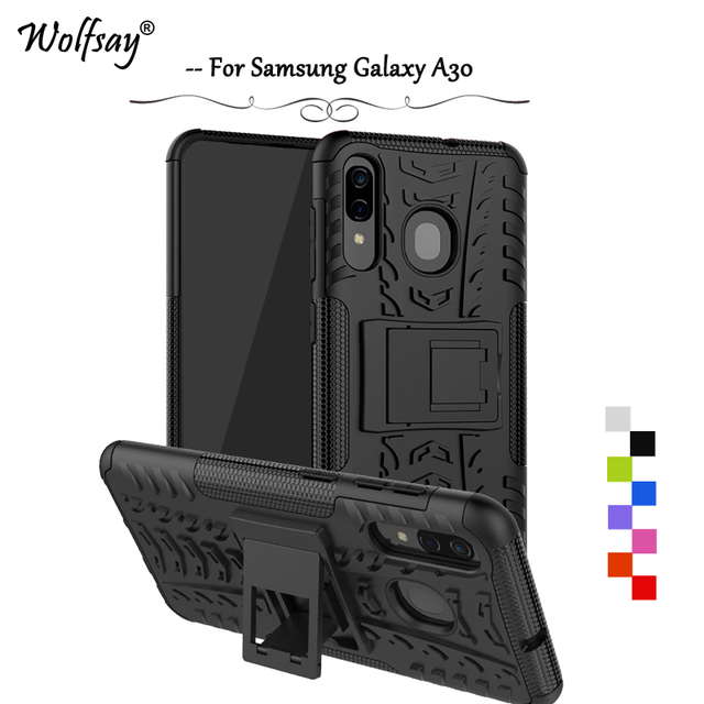 For Samsung Galaxy A30 Case Shockproof Armor Rubber Hard Phone Case For Samsung Galaxy A30 Back Cover For Samsung A30 A 30 Shell
