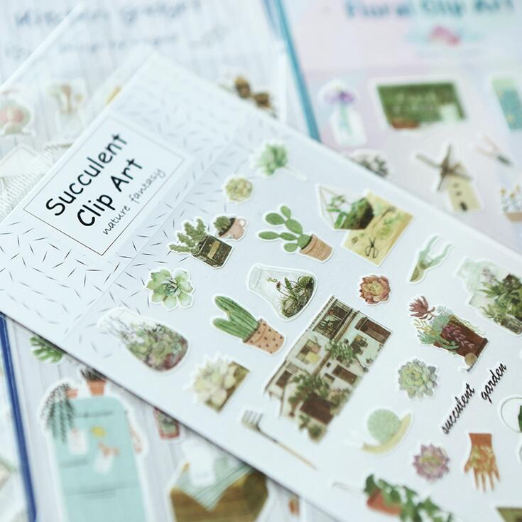 Warm Homeland Succulent Plant Art Stickers Adhesive Stickers DIY Decoration Stickers alive for all the things are nice stickers adhesive stickers diy decoration stickers