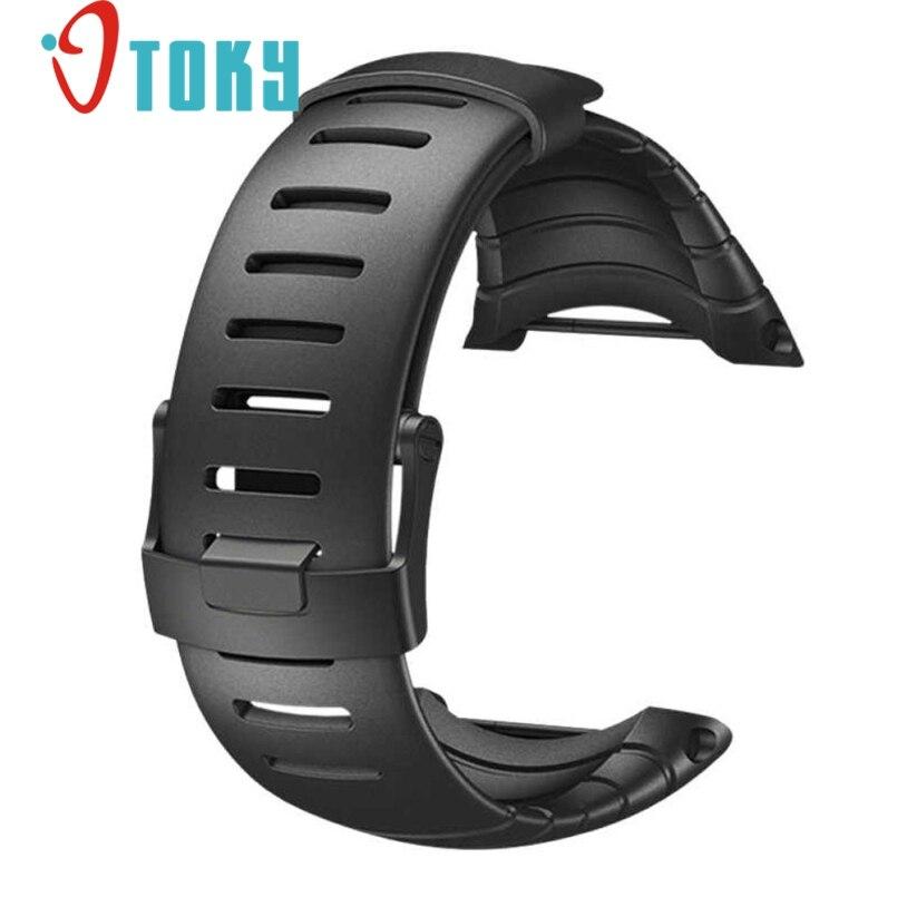 где купить Excellent Quality 2016 Luxury Rubber Watch Replacement Band Strap For SUUNTO CORE SS014993000 по лучшей цене