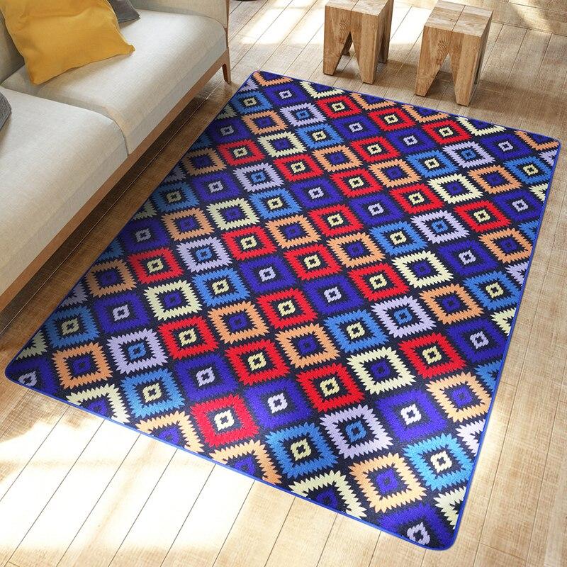 Rainbow Geometric Exotic Carpet Bedroom Living Room Floor Mats Doormats Sofa Table Area Rugs Non Slip Home Decorative In From Garden On