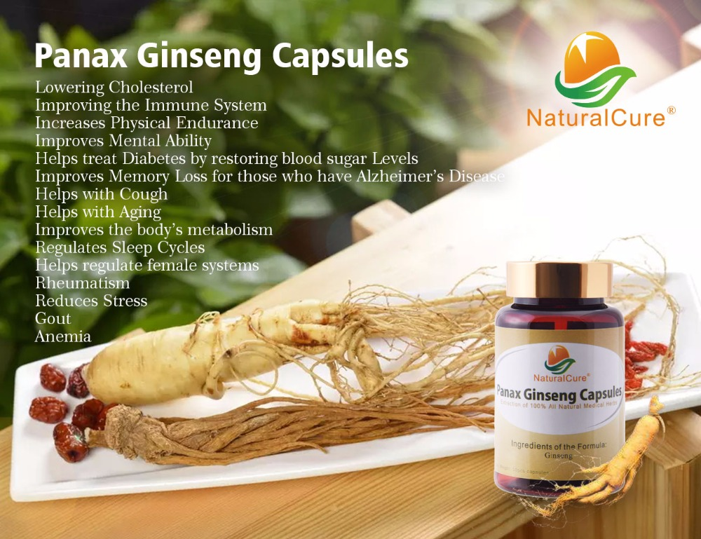 NaturalCure Panax Ginseng Capsule, 100% Natural Wild Ginseng Extraction Powder, Tonify Body Organs, Improve Immune System 1