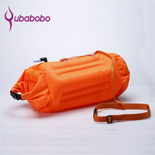 QUBABOBO Swim Buoy PVC Material 20L Swimming Tow Float Plus, Dry Bag for Open Water swimmers and Triathletes Orange S9001 недорого