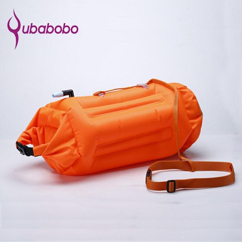 QUBABOBO bouée de bain PVC matériel 20L flotteur de remorquage de natation Plus, sac sec pour nageurs et triathlètes en eau libre Orange S9001