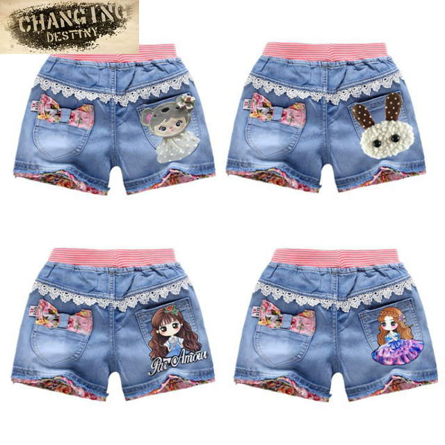 9a757acfc8 styles New Children Shorts Jeans Female Baby Girls Short Pants Embroidered  Kids Denim Shorts Summer Baby