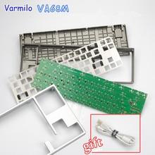 Varmilo VA68M печатной платы светодиодный металлический механическая клавиатура Комплект Серебряный/серый версия DIY Индивидуальные комплекты DIY механическая клавиатура