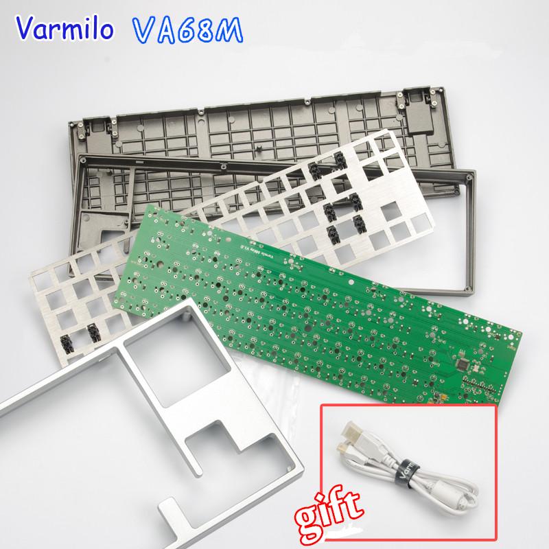 Prix pour Varmilo VA68M PCB Conseil LED métal mécanique clavier kit argent/gris version DIY Personnalisé Kits DIY Mécanique Clavier