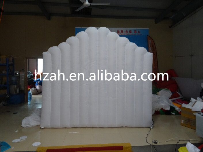 Party Decoration White Inflatable Wall with Airblower funny summer inflatable water games inflatable bounce water slide with stairs and blowers