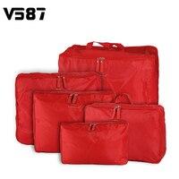 5pcs Home Travel Clothes Underwear Socks Storage Bags Packing Cube Luggage Bag Organizer 5 Sizes Set