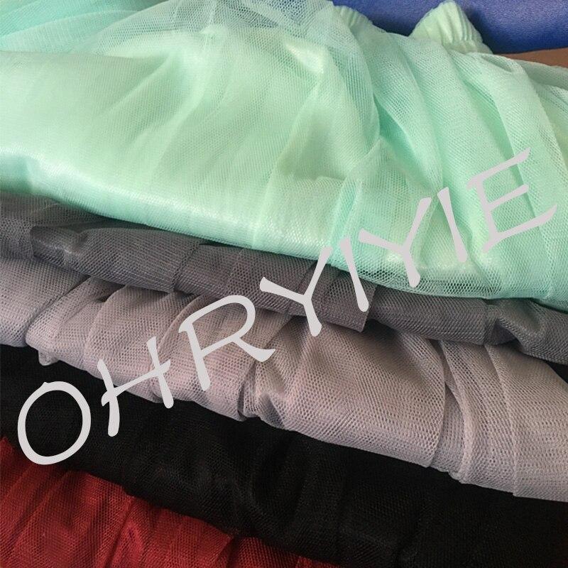 ohryiyie тюль юбки женские лето 2017 г. повседневная высокая талия длинная юбка эластичный пояс защита от солнца пушистый юбка-пачка юп лонге фам s1003