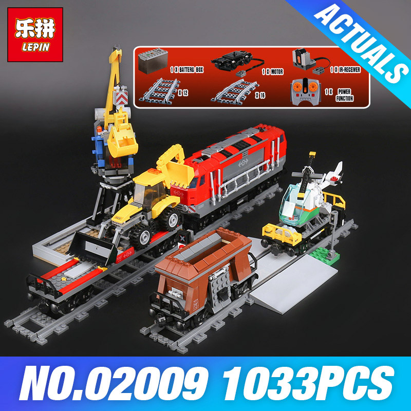 Lepin 02009 City Series Heavy-haul Train Set Genuine 1033Pcs Building Blocks Bricks Educational Toys Boy Christmas Gifts 60098 lepin 02009 city series heavy haul train set genuine 1033pcs building blocks bricks educational toys boy christmas gifts 60098