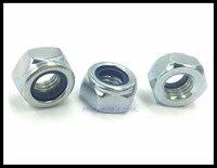 Metric Thread DIN985 M3 M4 M5 M6 M8 M10 M12 Zinc Plated Carbon Steel Hex Head