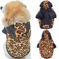 Dogs Warm Hooded Sweatshirt Leopard Print Pets Puppy Thermal Coat for Pets Animals Jackets dog clothes for small dogs
