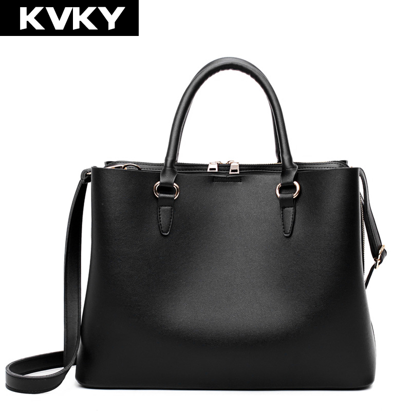KVKY Brand Fashion Designer Women Handbags PU Leather Shoulder Bags Ladies Casual Tote Crossbody Bag Office Female Messenger Bag the olympics level 3 cd rom