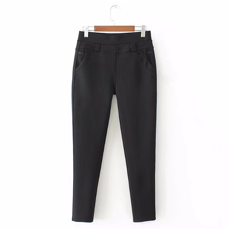 brand women 2018 fashion cotton high quality   capris   women's pencil drawstring ankle-length   pants
