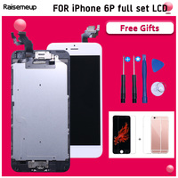 Complete Full Assembly iPhone 6 plus A1522 A1524 A1593 LCD Screen Touch Digitizer Replacement Display Front Camera home Button