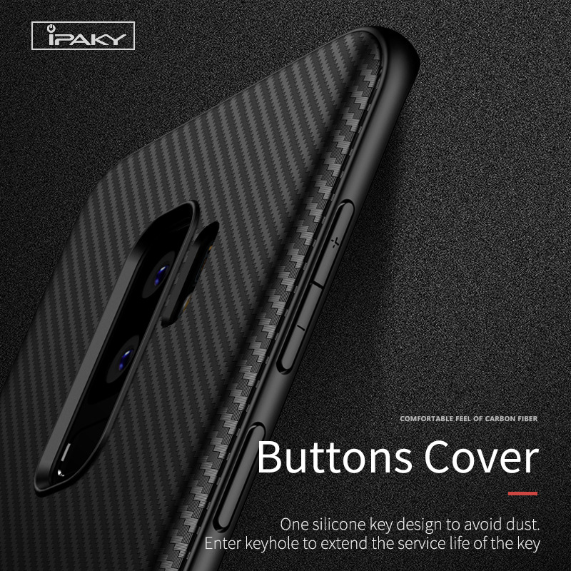 new style e2d09 6d072 US $4.99  iPaky For Samsung Galaxy S9 Plus Case Carbon Fiber Soft Silicone  Housing Cover For Samsung Galaxy Note 9 Phone Cases-in Phone Pouch from ...