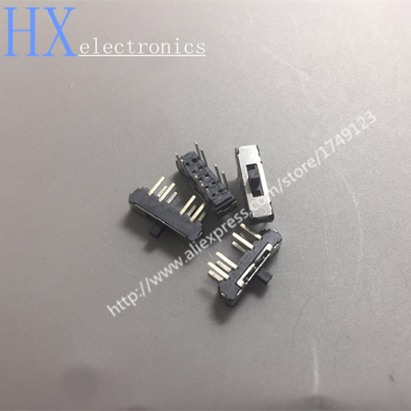 Бесплатная доставка 20 шт. MSS23D18 MSS-23D18 8PIN 2P3T DPTT тумблер боковые Скользящие переключатели ручка 4 мм ROHS