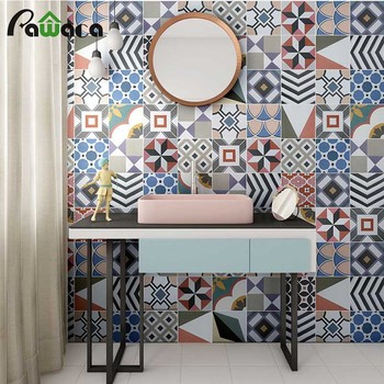 2pcs Set 3d Wall Stickers Mosaic Retro Tiles For Bathroom Kitchen
