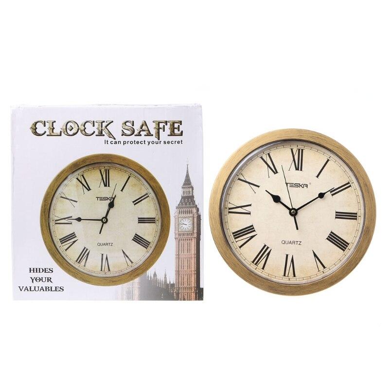 Classsic Wall Clock Secret Diversion Stash Money Jewelry Storage Hidden Safe BoxClasssic Wall Clock Secret Diversion Stash Money Jewelry Storage Hidden Safe Box