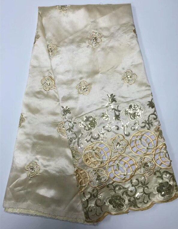 Rosa tela de seda george encaje con lentejuelas de oro bordado para ...