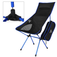 Portable Folding Camping Chair Seat Leisure Stool Lightweight Pillows Lengthen Chair Backrest Outdoor Sport Hiking
