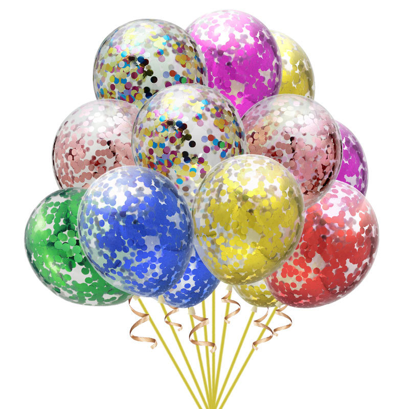 5pcs/Lot 12inch Confetti Ballons Decoration Birthday ,Birthday Party Decorations Kids