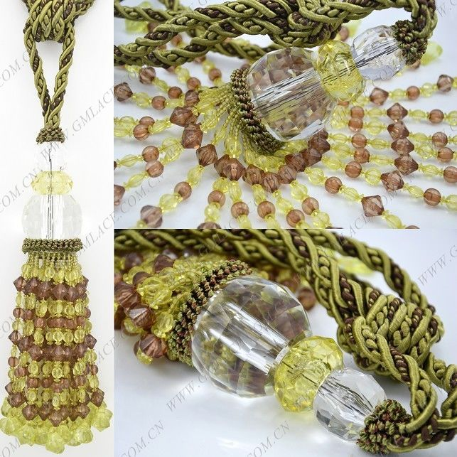 Helical Tie Cord Olive Green Wine Red Curtain Tiebacks Tie