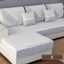 High Quality Solid Color Sofa Cover Sofa Towel Cushion Cotton Linen Fabric couch case for Different shape sofa Set